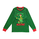 Dr. Seuss Grinch Holiday Family Mens Long Sleeve Pant Pajama Set 2-pc.