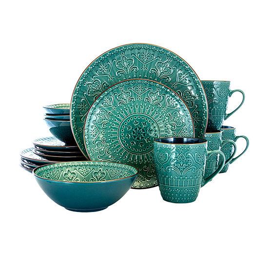 Elama Mozaic 16-pc. Dinnerware Set