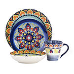 Elama Zen Blue Mozaik 16-pc. Dinnerware Set