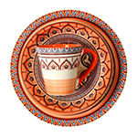 Elama Zen Rust Mozaik 16-pc. Dinnerware Set