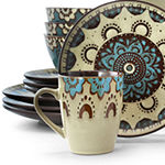 Elama Clay Heart 16-pc. Dinnerware Set