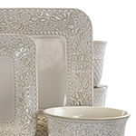 Elama Ivory Lotus 16-pc. Dinnerware Set