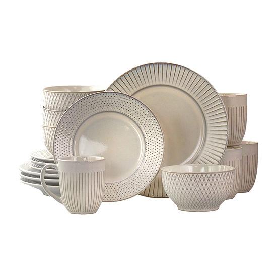 Elama Market Finds 16-pc. Dinnerware Set