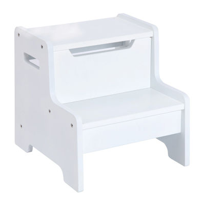 Expressions Kids Step Stool - White