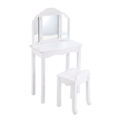 Expressions Vanity & Stool - White