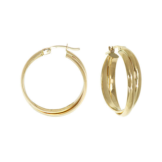 14K Gold Double-Row Hoop Earrings