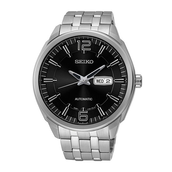 Seiko Recraft Mens Stainless Steel Automatic Watch Snkn47
