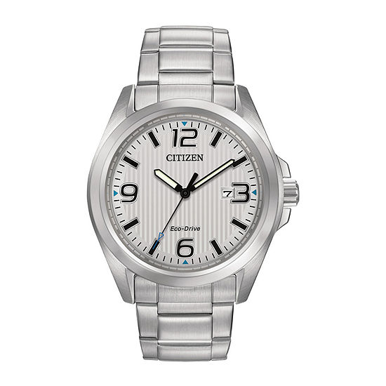 Citizen Chandler Mens Silver Tone Stainless Steel Bracelet Watch-Aw1430-86a