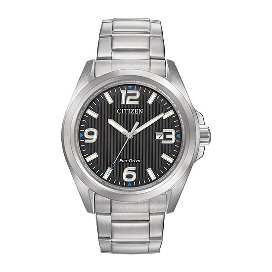 Citizen Chandler Mens Silver Tone Stainless Steel Bracelet Watch-Aw1430-86e