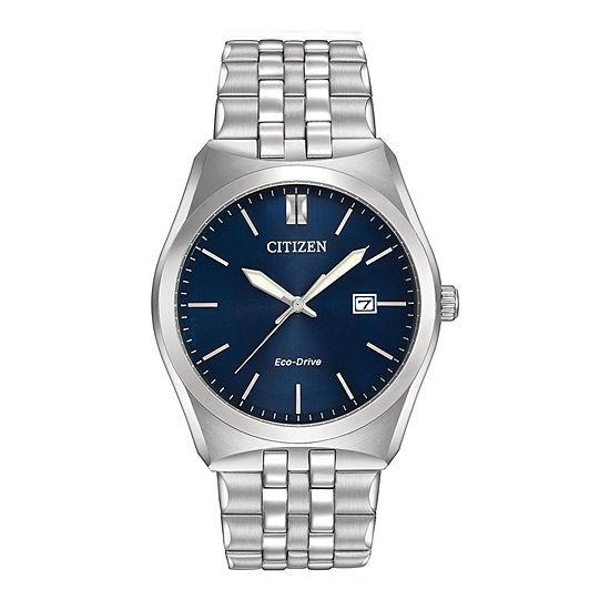 Citizen Corso Mens Silver Tone Stainless Steel Bracelet Watch - Bm7330-59l