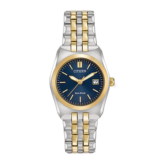 Citizen Corso Womens Two Tone Stainless Steel Bracelet Watch - Ew2294-53l