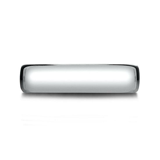 Mens 14K White Gold 5.5mm Band