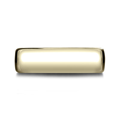 Mens 14K Yellow Gold 6.5mm Band