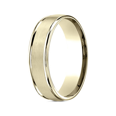 Mens 10K Yellow Gold 6mm Band