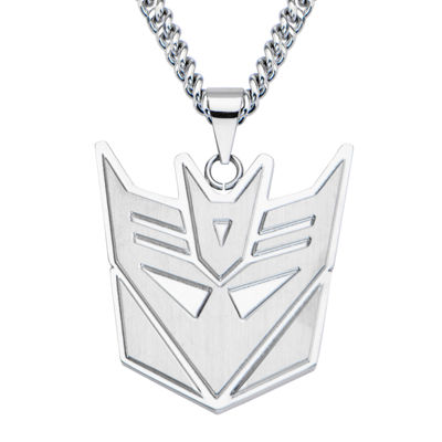Inox® Mens Stainless Steel Transformers Decepticon Pendant Necklace