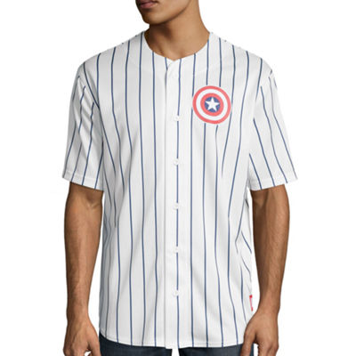 Captain America Short-Sleeve Baseball Jersey