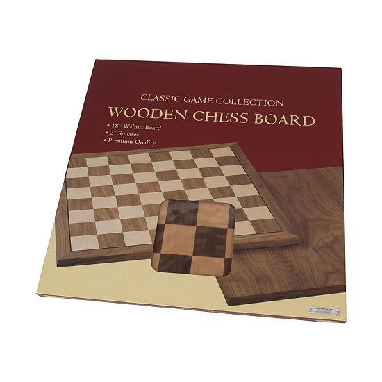 Walnut Wood Chessboard--18 W 2.0 Squares