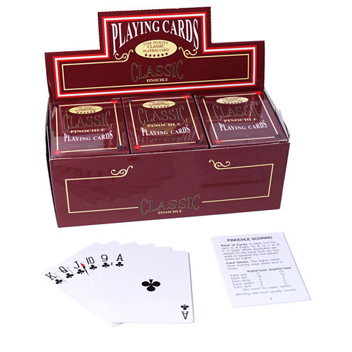 Pinocle Coated Playing Cards-12 Decks