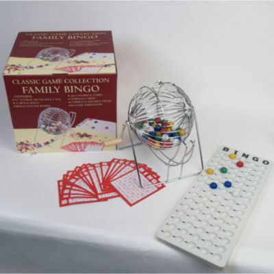 "Family Bingo Set With 15"" Ball Cage"
