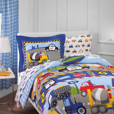 Dream Factory Trains & Trucks 5-pc. Twin Comforter Set