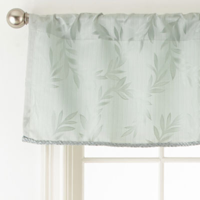 Home Expressions™ Ardsley Leaf Rod-Pocket/Back-Tab Tailored Valance