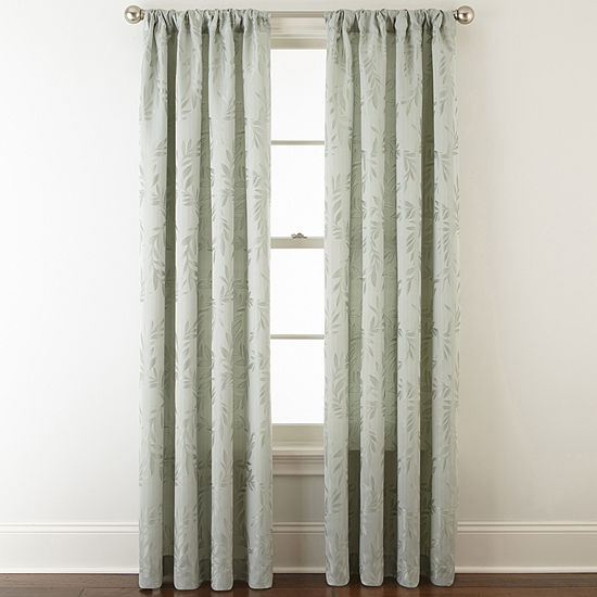 Home Expressions Light-Filtering Rod-Pocket Single Curtain Panel