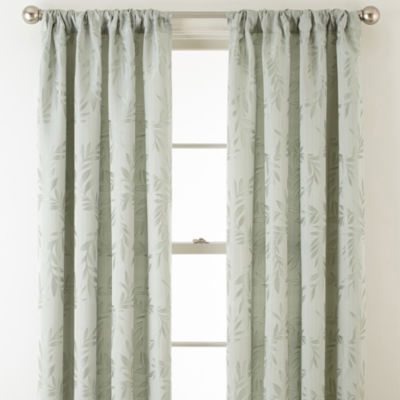 Home Expressions™ Ardsley Leaf Rod-Pocket/Back-Tab Curtain Panel