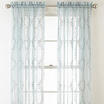 Home Expressions Sheer Rod-Pocket Single Curtain Panel