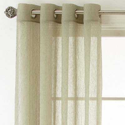 Royal Velvet® Crushed Voile Grommet-Top Sheer Panel