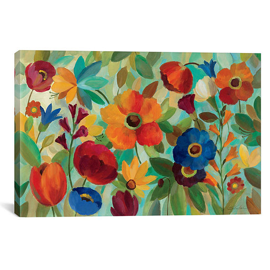 Summer Floral V by Silvia Vassileva Canvas Wall Art