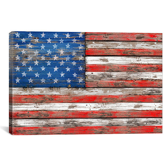 USA Vintage Wood by Diego Tirigall Canvas Wall Art