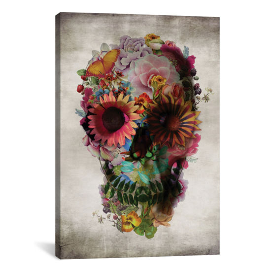 Skull no.2 by Ali Gulec Canvas Wall Art