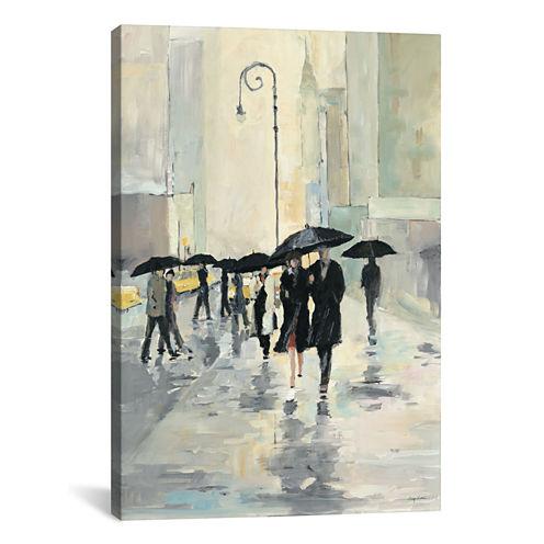 City In The Rain by Avery Tillmon Canvas Wall Art
