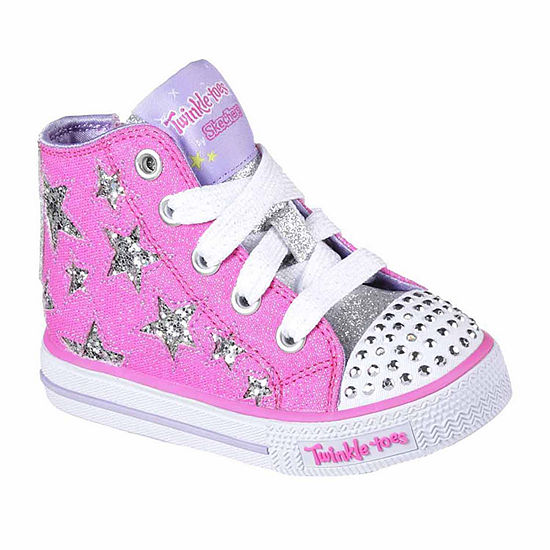 708014a6a929 Skechers Twinkle Toes Shuffles Rock Girls Sneakers Toddler JCPenney
