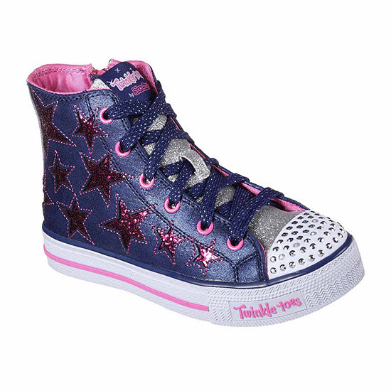76812be133cb Skechers Twinkle Toes Shuffles Rock Girls Sneakers - Little Kids - JCPenney