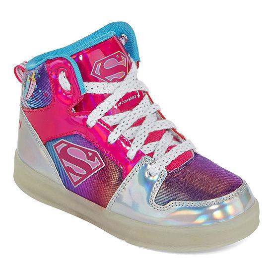 Warner Bros Supergirl Light-Up Girls Sneakers - Little Kids/Big Kids