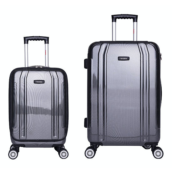 InUSA Southworld Lightweight Hardside Spinner 2-pc. Carry-On and Medium Luggage Set
