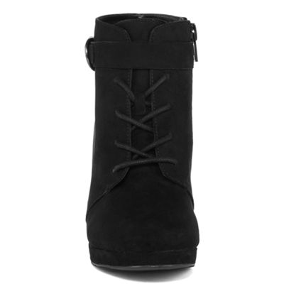 a.n.a Womens Fawn Lace Up Boots Zip