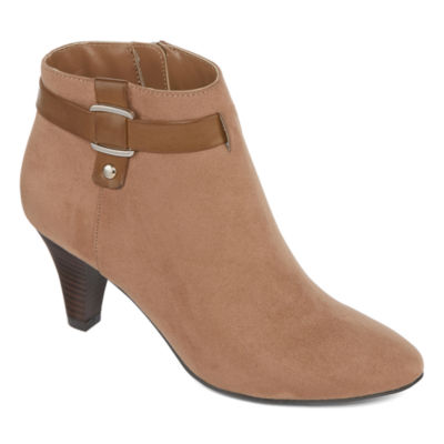 east 5th Womens Quanda Bootie Stiletto Heel Zip