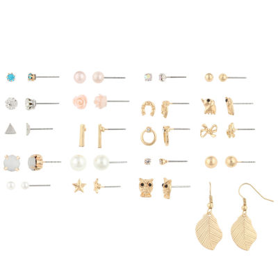 Decree 20-pc. Multi Color Earring Sets