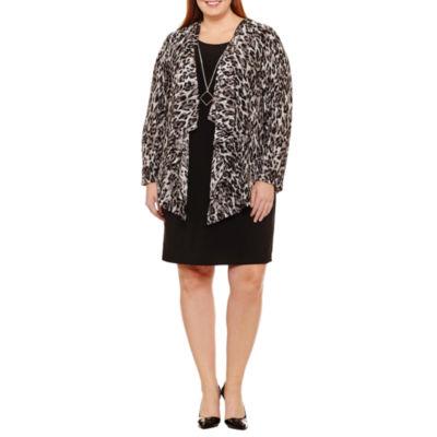 R & K Originals Long Sleeve Jacket Dress-Plus