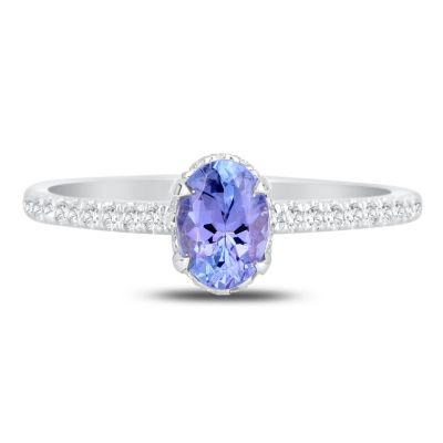 Womens 3/4 CT. T.W. Genuine Blue Tanzanite 14K Gold Cocktail Ring