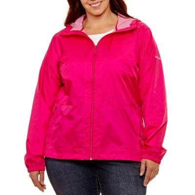 Columbia Taffeta Waterproof Lightweight Raincoat-Plus