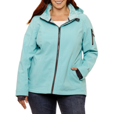 Free Country Water Resistant Lightweight Softshell Jacket-Plus