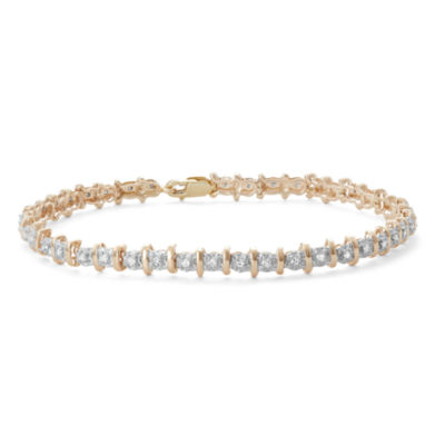 Womens 1/2 CT. T.W. White Diamond 10K Gold Tennis Bracelet