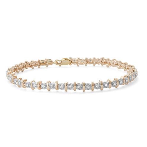 Womens 1/2 CT. T.W. White Diamond 10K Gold Tennis Bracelet