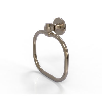 Allied Brass Continental With Groovy Accent Towel Ring