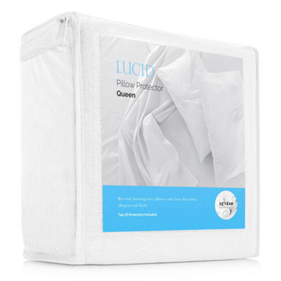 Lucid Premium Waterproof Allergen Barrier Pillow Protector