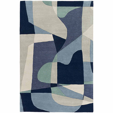 Decor 140 Quetzai Hand Tufted Rectangular Indoor Rugs, One Size , Blue