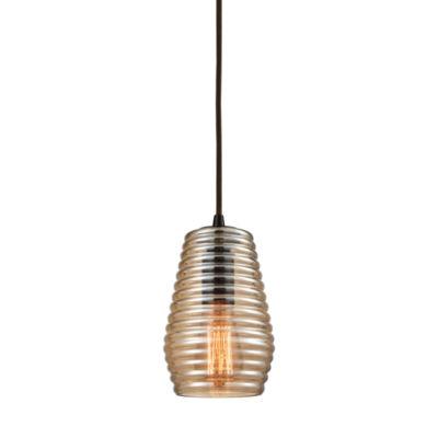Elk Lighting Ribbed Glass Pendant Light
